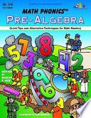 Math Phonics   Pre Algebra