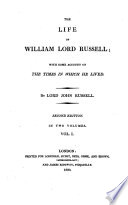 The Life of William Lord Russell Book