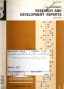 U S  Government Research   Development Reports Book