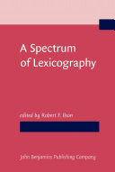 Pdf A Spectrum of Lexicography Telecharger
