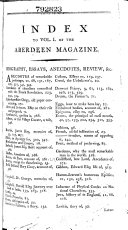 The Aberdeen Magazine; Or, Universal Repository