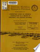 Laboratory Study of Chemical Coagulation as a Means of Treatment for Dredged Material