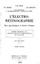 L'electro-retinographie : Bases Physiologiques at Donnees Cliniques