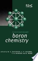 Contemporary Boron Chemistry Book