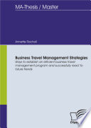 Business Travel Management Strategies