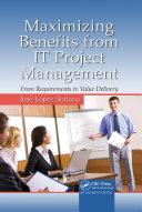 Maximizing Benefits from IT Project Management Pdf/ePub eBook