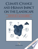Climate Change and Human Impact on the Landscape
