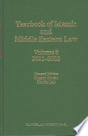 Yearbook Of Islamic And Middle Eastern Law
