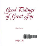 Good Tidings of Great Joy Cover 2