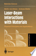 Laser Beam Interactions With Materials Book PDF