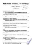 Romanian Journal of Physics