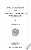 Annual Report Of The Interstate Commerce Commission