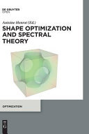 Shape Optimization and Spectral Theory