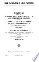 Public Participation In Agency Proceedings