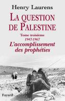 Pdf La question de Palestine Telecharger