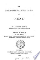 The Phenomena And Laws Of Heat Tr And Ed By E Rich