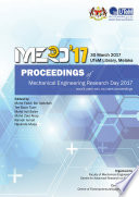 Proceedings of Mechanical Engineering Research Day 2017