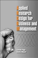 Applied Research Design for Business and Management