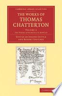 Thomas Chatterton Books, Thomas Chatterton poetry book