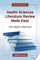 Health Sciences Literature Review Made Easy Book