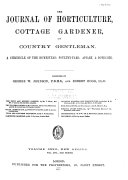 The Journal of Horticulture  Cottage Gardener  and Home Farmer