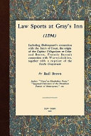 Law Sports at Gray s Inn  1594