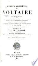 Œuvres complètes de Voltaire: Table générale et analytique. 1885