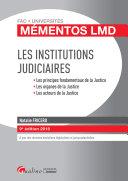 Les institutions judiciaires 2018