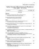 Indian Journal of Biochemistry and Biophysics