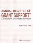 Annual Register of Grant Support 2016