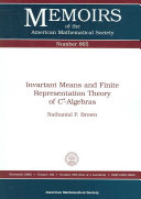 Invariant Means and Finite Representation Theory of $C^*$-Algebras