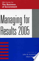 Managing for Results  2005 Book