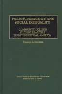 Policy  Pedagogy  and Social Inequality