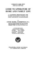 Guide to Literature of Home and Family Life