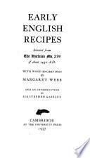 Early English recipes