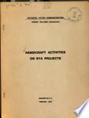 Handicraft Activities on NYA Projects