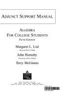 Adjunct Support Manual