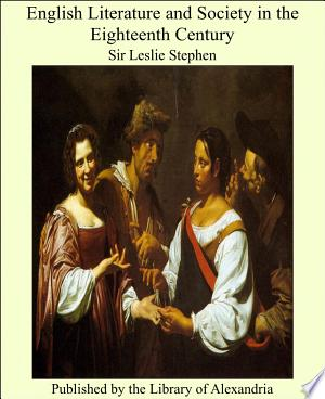 Download English Literature and Society in the Eighteenth Century PDF