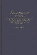 Autonomy Or Power