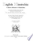 English Minstrelsie Book
