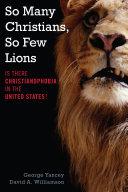 So Many Christians  So Few Lions