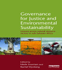 Pdf Governance for Justice and Environmental Sustainability Telecharger