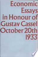 economic essays in honour of gustav cassel th  economic essays in honour of gustav cassel 20th 1933