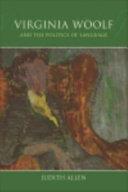 Pdf Virginia Woolf and the Politics of Language