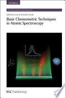 Basic Chemometric Techniques in Atomic Spectroscopy Book