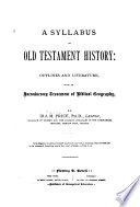 A Syllabus of Old Testament History Book