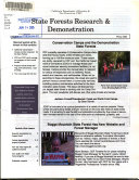 State Forests Research And Demonstration