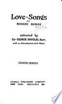 Love songs of Robert Burns Book