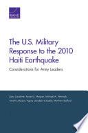 The U S  Military Response to the 2010 Haiti Earthquake