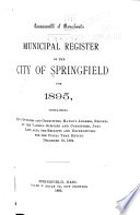 Municipal Register Of The City Of Springfield